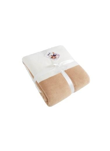 Dolce Bonita Home Tek Kişilik Pamuklu Battaniye Bir Başka Kahve-Beyaz Kahve